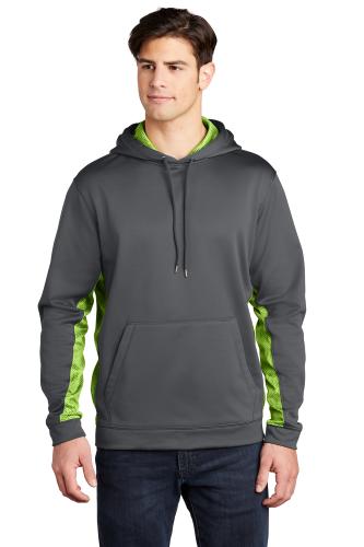 Sport-Wick CamoHex Fleece Colorblock Hooded Pullover