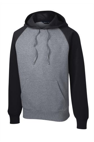Sport-Tek Raglan Colorblock Pullover Hooded Sweatshirt