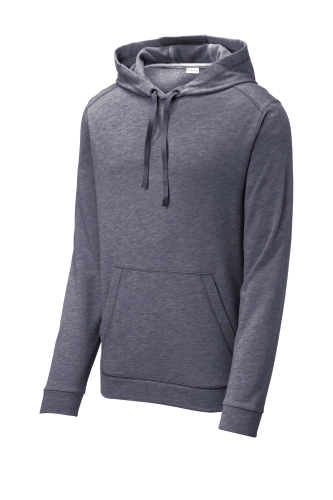 PosiCharge Tri-Blend Wicking Fleece Hooded Pullover