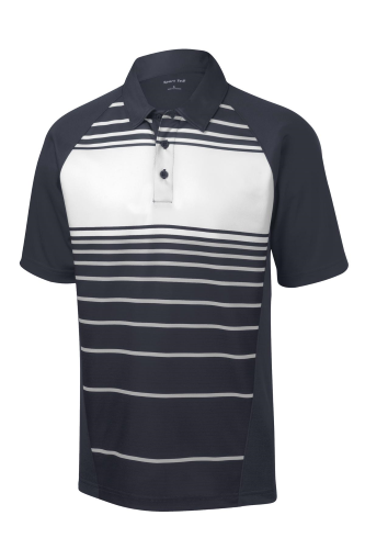 Sport-Tek Dry Zone ™ Sublimated Stripe Polo