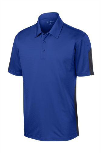 Sport-Tek Active Textured Colorblock Polo