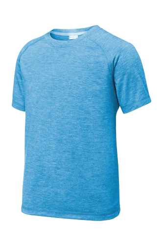 Youth PosiCharge Tri-Blend Wicking Raglan Tee